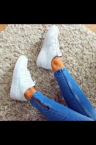 jeans blue light zip washed denim shoes
