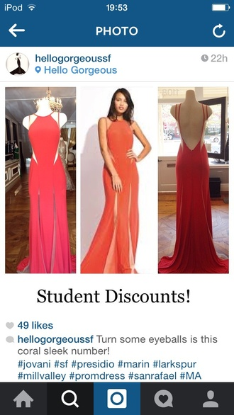 gown red dress red prom dress dress