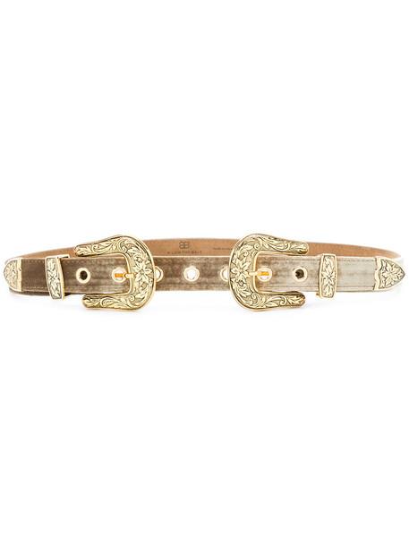 double buckle belt metallic belt