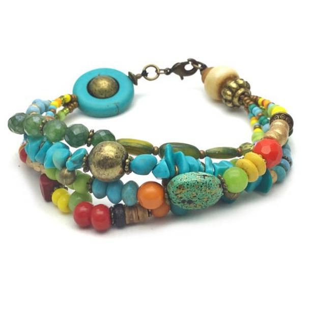 jewels boho chic boho jewelry indie boho handmade colorful bracelets bohemian bracelet