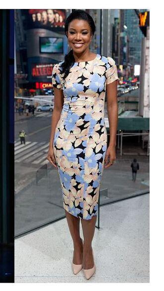 dress bodycon dress gabrielle union floral