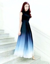dress,blue dress,blue ombre dress,ombre dress,long,formal,exactly,prom dress