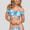 Shiloh bikini top in blue crush tie dye