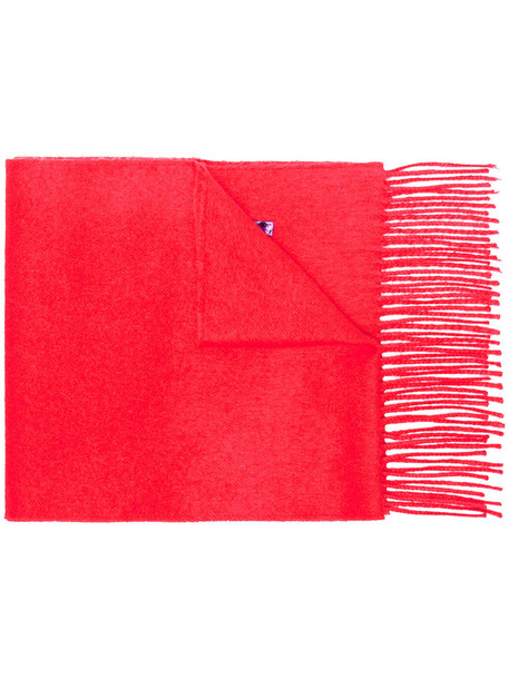 women scarf silk red