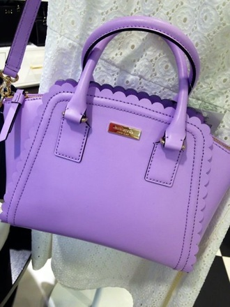 bag kate spade lavender scalloped messenger