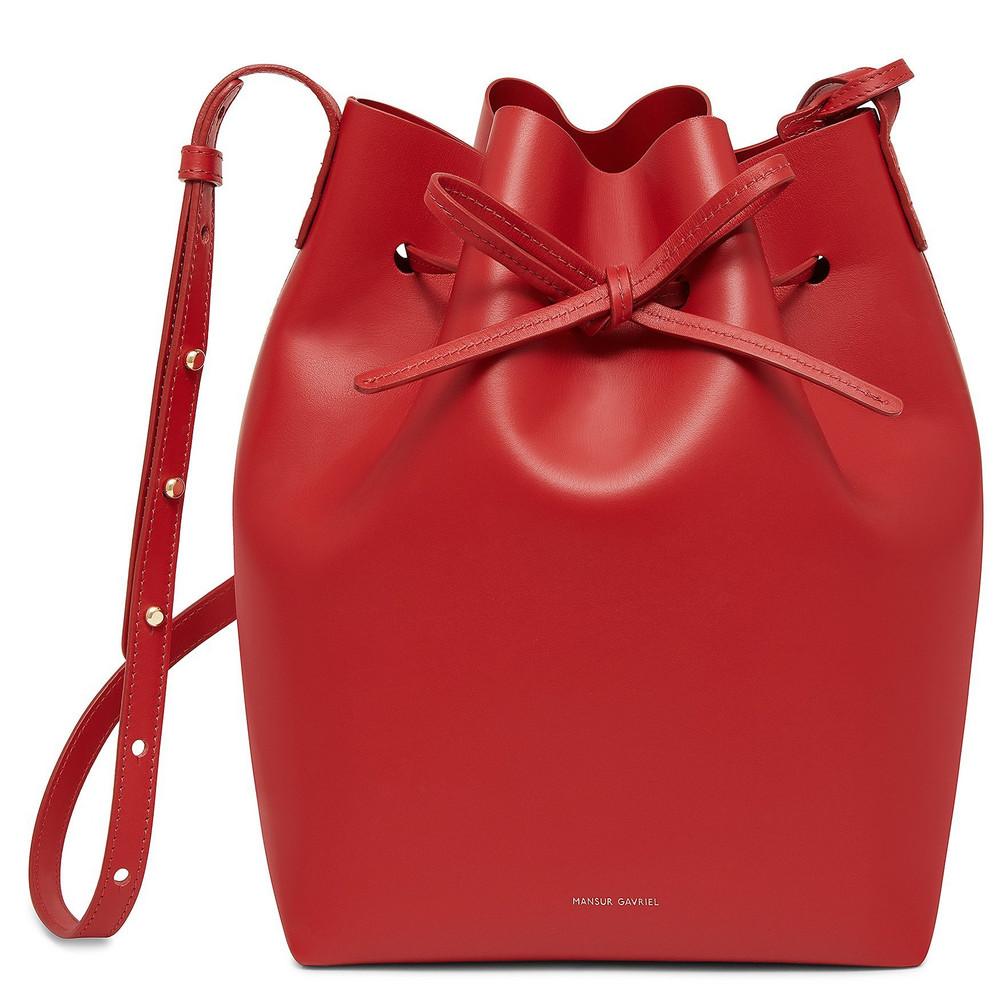 Mansur Gavriel Calf Bucket Bag - Flamma