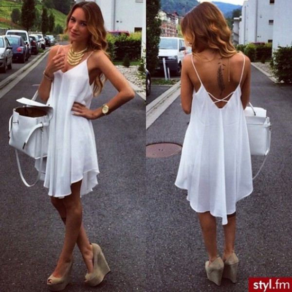 white dress summer dress beautiful