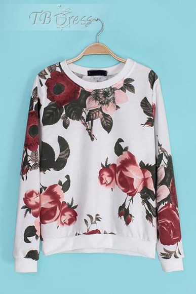 floral sweater floral sweater