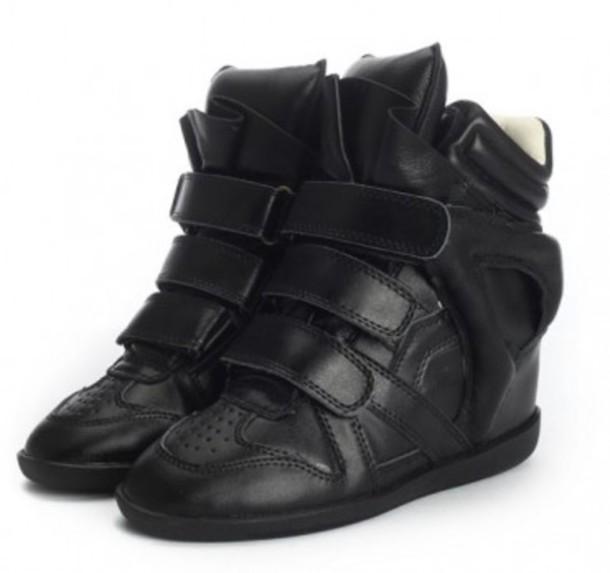 shoes cheap marant black wedge sneaker wheretoget