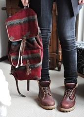 bag,red,indie,indie bag,aztec,aztec bag,red bag,rucksack,hipster,hipster bag,shoes,tribal pattern,backpack,instagram,vintage,woven backpack