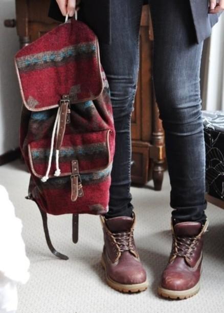 463dc51bea7f3 bag red indie indie bag aztec aztec bag red bag rucksack hipster hipster  bag shoes tribal