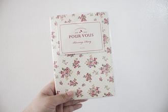 korea fashion bag bloomingdiary planner agenda planner2014 agenda2014 floral print book notebook