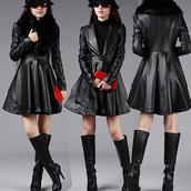 coat,clothes,fashion,warm,long,jumpsuit,top,black,cool,beautiful,girl,women,elegant,new girl,winter jacket,overcoat,fur coat,fur jacket,fur collar