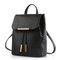 Women students school bags draw string pu leather printing satchel shoulder bags backpack online - newchic