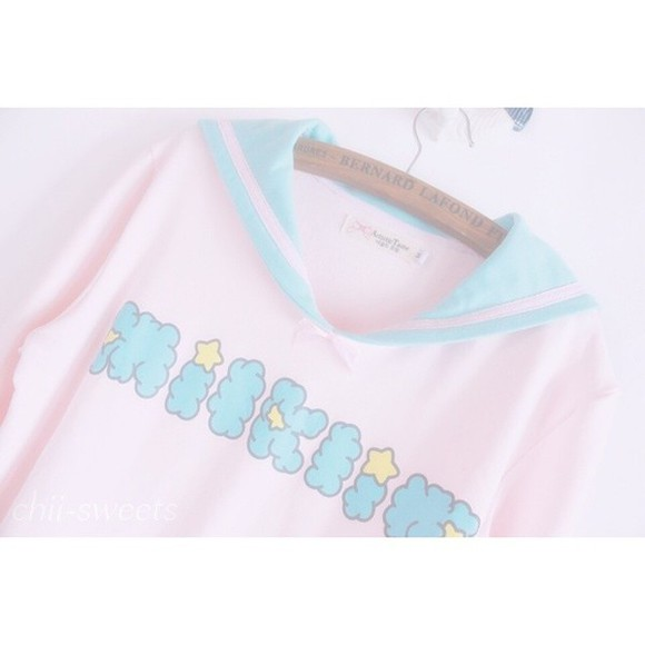 pink cute pastel kawaii shirt sailor