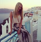 skirt,maxi skirt,boho,bohemian,summer,blouse