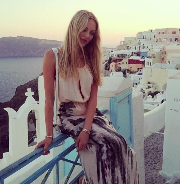 skirt maxi skirt boho boho bohemian summer blouse