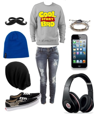 jacket pants sexy sweater couple sweaters sweater vans authentic beanie bracelets swag chillin kickin it jeans mustache