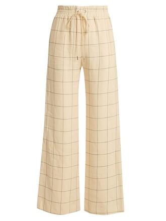 print cream pants