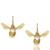 Gold Flying Bee Hoop Earrings