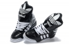 Shop Jeremy Scott X Adidas Big Tongue Shoes - Adidas M Attitude Logo W Sneakers Black White Snaker Leather