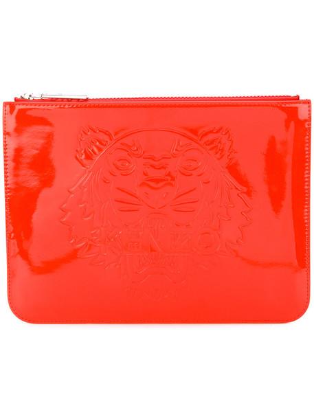women tiger clutch red bag
