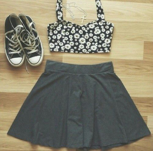 tank top skirt jewels shoes top
