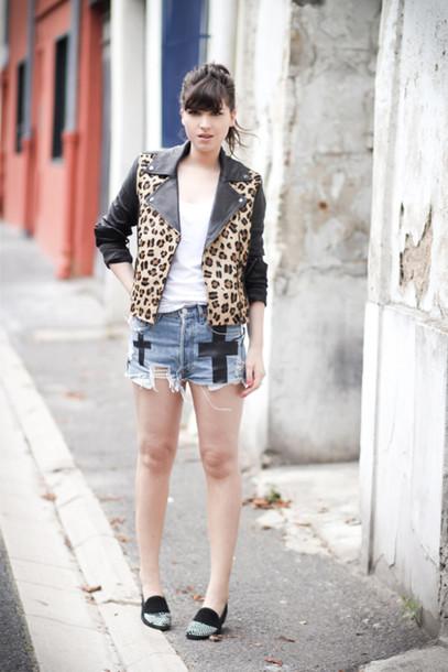 perfecto betty leop jacket