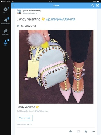 bag valentino candy pastel studded style fashion
