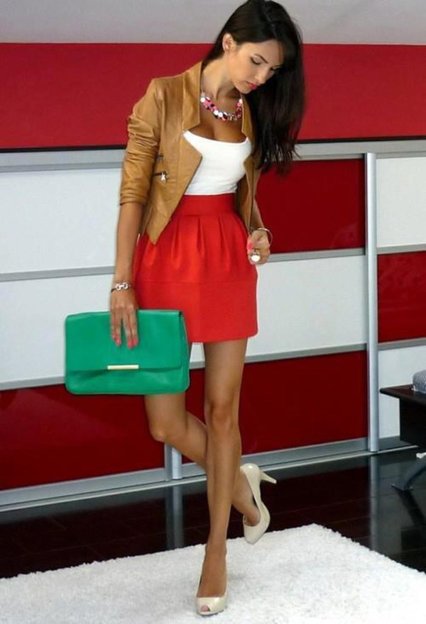 this look skirts and tops jacket