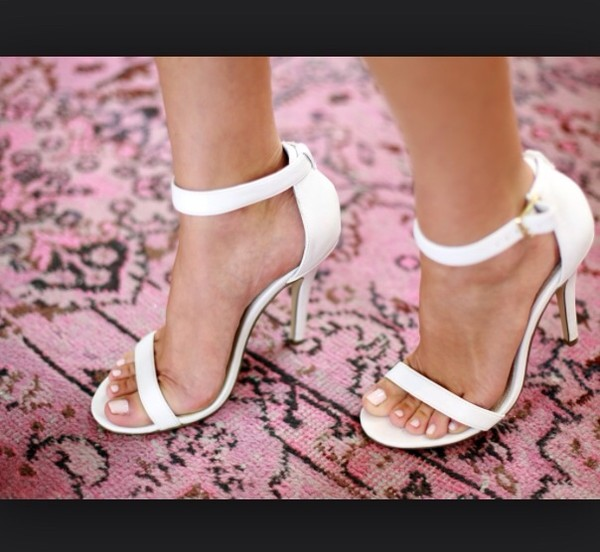 shoes white strappy heels white white heels white strappy sandals heels