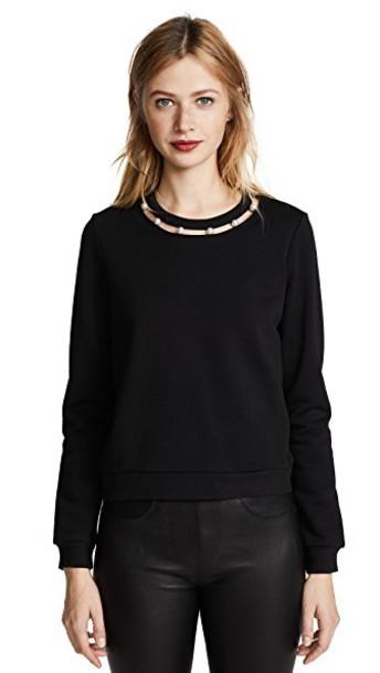 Rebecca Minkoff sweatshirt open black sweater