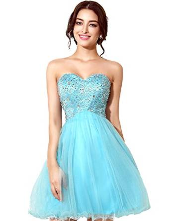 Clearbridal Women's Sequins Backless 2016 Homecoming Dresses short Prom Gowns SD034 at Amazon Women's Clothing store: