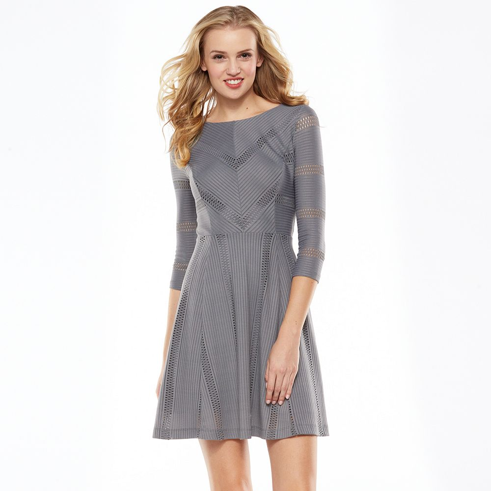 Lc lauren conrad textured fit & flare dress