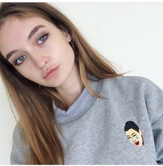 sweater girly grey grey sweater jumper kim kardashian