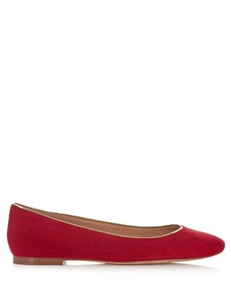 ballet flats ballet flats suede red shoes