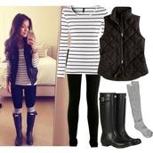 coat,shoes,striped shirt,long sleeve shirt,black and white,shirt,blouse,jacket,long sleeve black and white.,socks