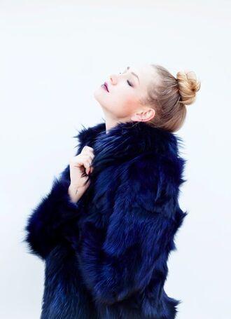 coat faux fur coat faux fur faux fur jacket blue faux fur