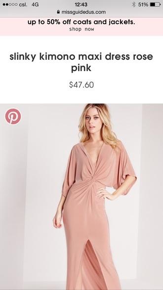 dress rose comono wrap dress