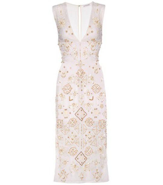 Altuzarra dress beaded cotton white