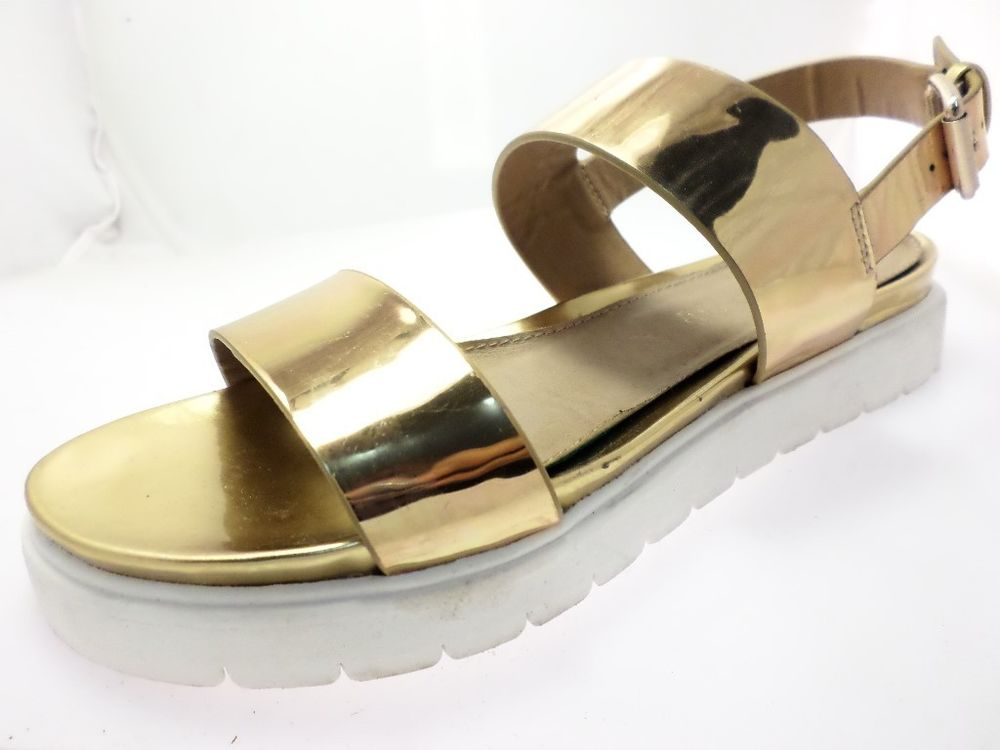 Aldo Parramore Strappy Sandals Womens Shoes Gold Size 6.5