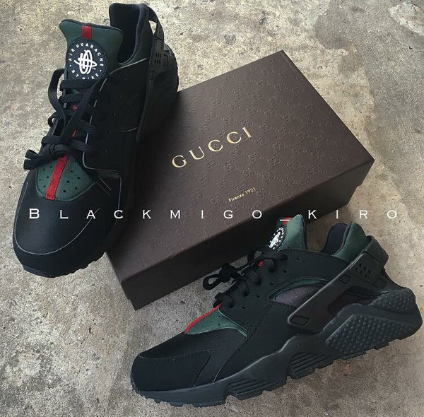 Shoes Huarache Green Green Sneakers Gucci Huaraches