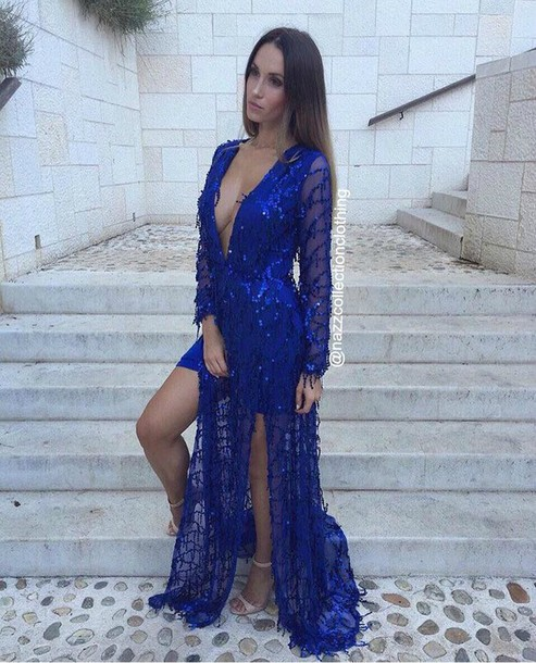 dress, royal blue, royal blue dress, royal blue prom dress, blue ...