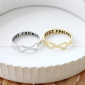 jewels,jewelry,ring,best friends infinity ring,friendship,infinity ring,infinite ring,i love you ring,engagement ring,anniversary ring,infinity,i love you,bff,accessories,mexico,gold ring,rings and tings,shoes,caterpillar,boots,white boots,flat boots