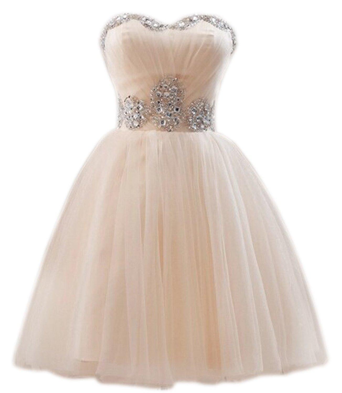 PrettyDresses Women's Short Sweetheart Neckline Sleeveless Prom Party Dresses at Amazon Women's Clothing store: