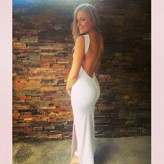 dress white dress leg slit black dress