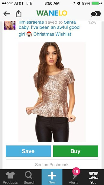 shirt sequins peplum top peplum