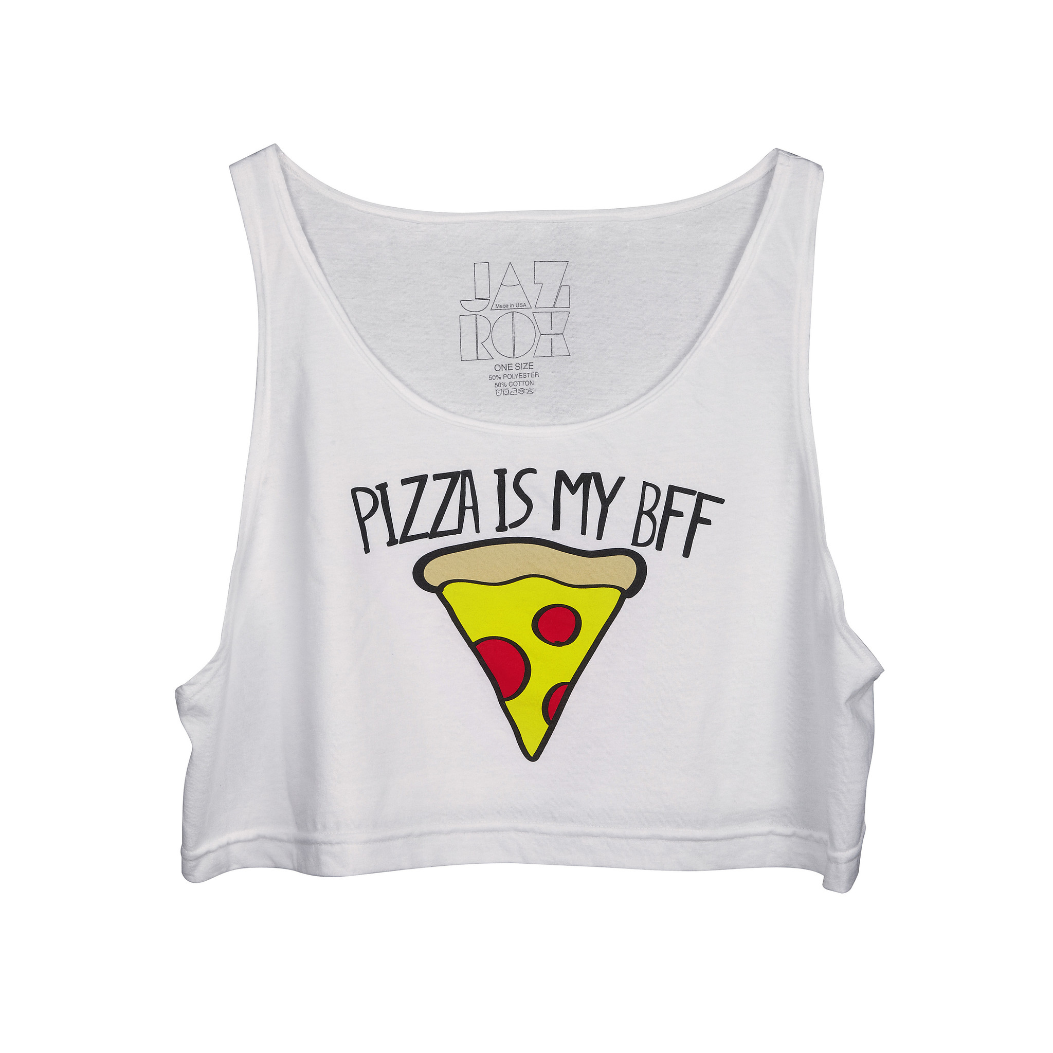 Pizza Loose Crop Tank – JazRox