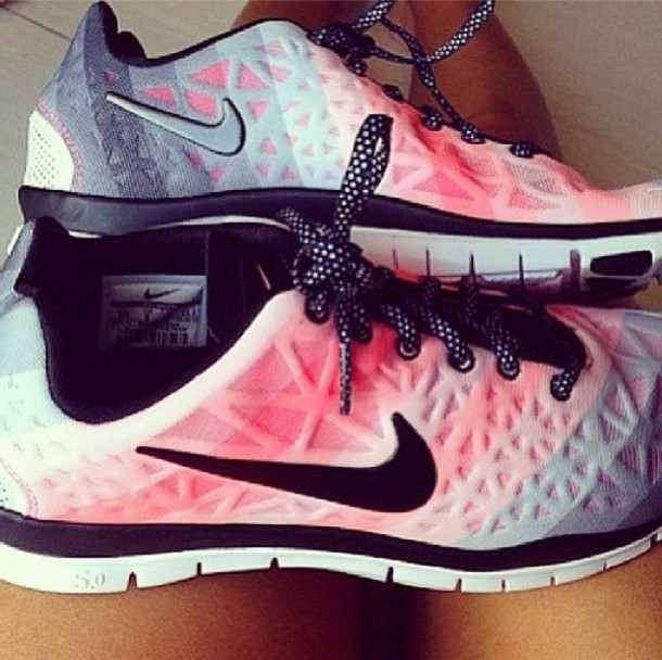 Newest Nike Free 5.0 V3 Women Gray Pink Easy Travel Running Shoes B8344e3d