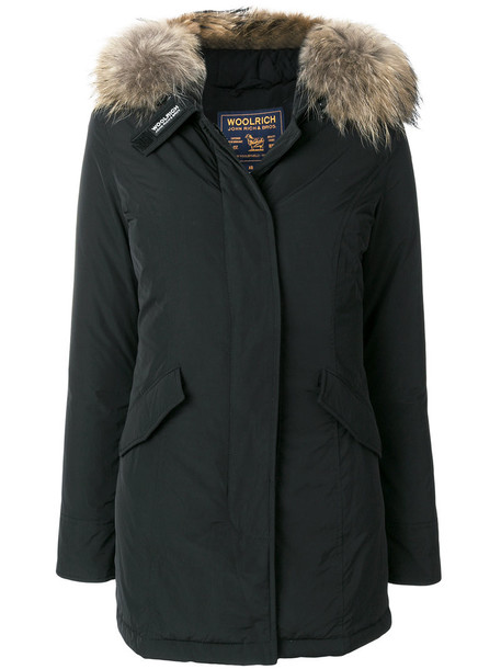 Woolrich coat women dog black